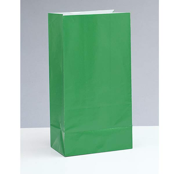 Green Paper Party Bag 12pk
