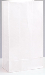 White Paper Party Bags 12pk