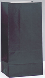 Black Paper Party Bag 12pk