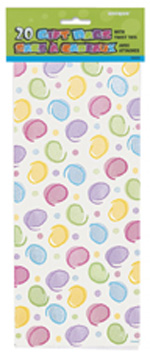 Polka Dots Cello Bags 20pk