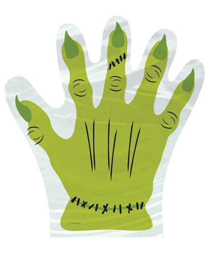 Monster Hand Shaped Cello Bags x10