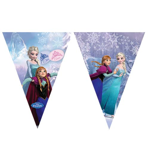 Frozen Ice Skate Flag Banner