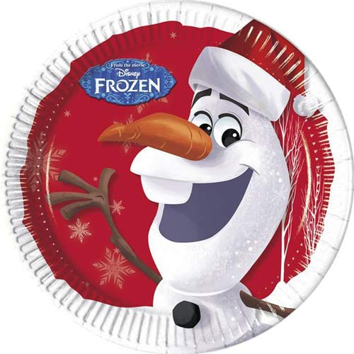 Olaf Christmas Paper Plates x8