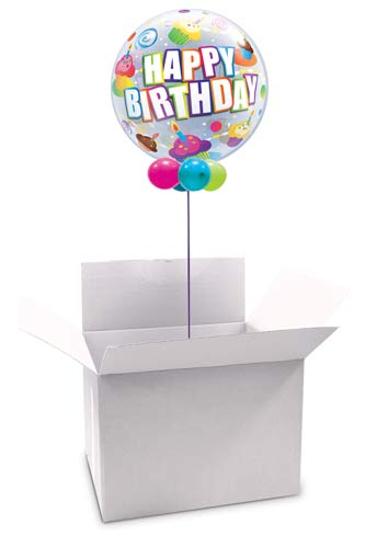 White Bubble And Shape Balloon Box