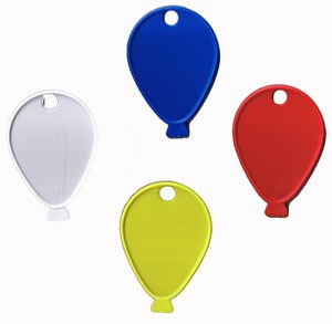 Balloon Shaped Weights Primary Assortment x100